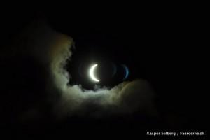 Solformørkelse, halvmåneformet