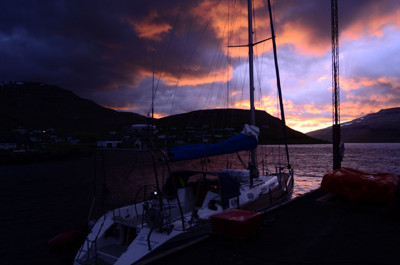 Hósvík, solnedgang